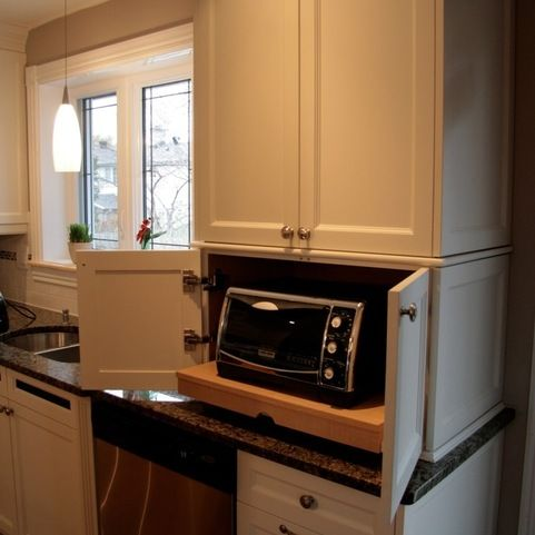 Toaster Oven Placement Design Ideas, Pictures, Remodel and Decor