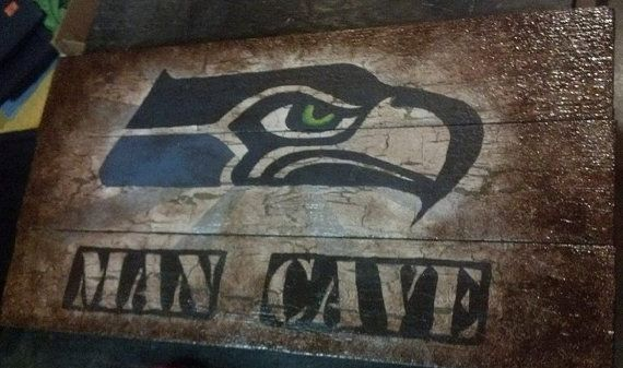 Man Cave Store Seattle : Seattle seahawks man cave sign by willabeanprojects on