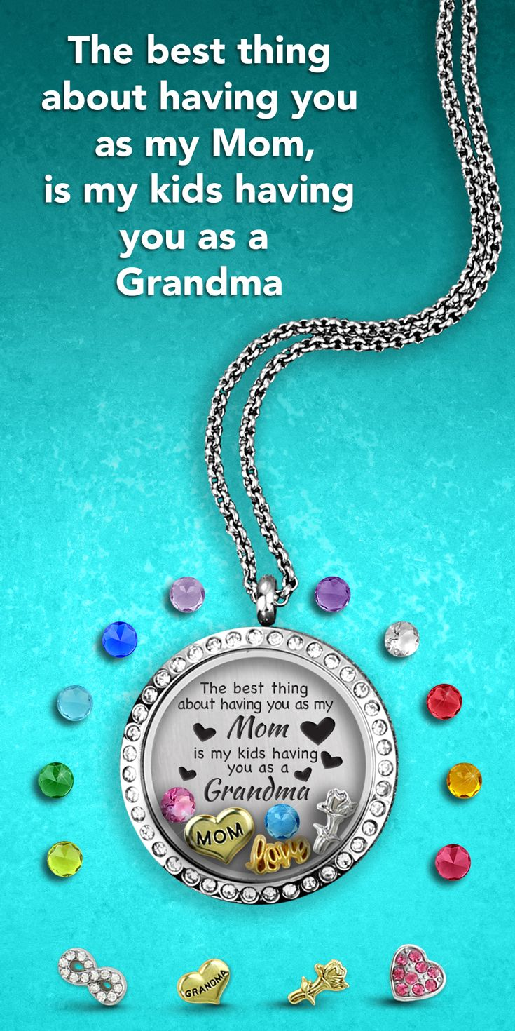 Unique gift for Grandma! How are you telling Grandma how much you love her? This is the locket she will treasure with the perfect Grandma necklace and the best gift for Mom. Exclusive authentic lockets from Tell Me A Charm.  $29.99 including everything here! Free shipping and free Christmas charms while they last!!!! www.tellmeacharm.com