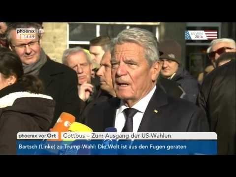 #USWahl16  Joachim Gauck zum Wahlsieg von Donald Trump am 09 11 2016