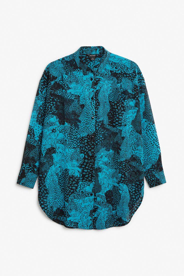 Long print blouse - Print perfection - Tops - Monki SE