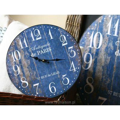 Niebieskie Zegary Antiquile de Paris