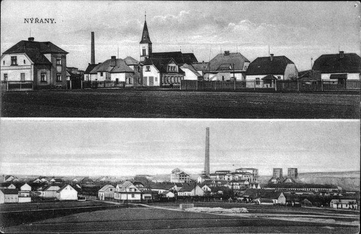1936, Nýřany - pohled od dnešní školy. zdroj: nyrany.cz