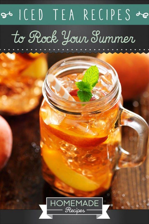 Iced Tea Recipes for Summer by Homemade Recipes at http://homemaderecipes.com/world-cuisine/american/19-homemade-iced-tea-recipes/
