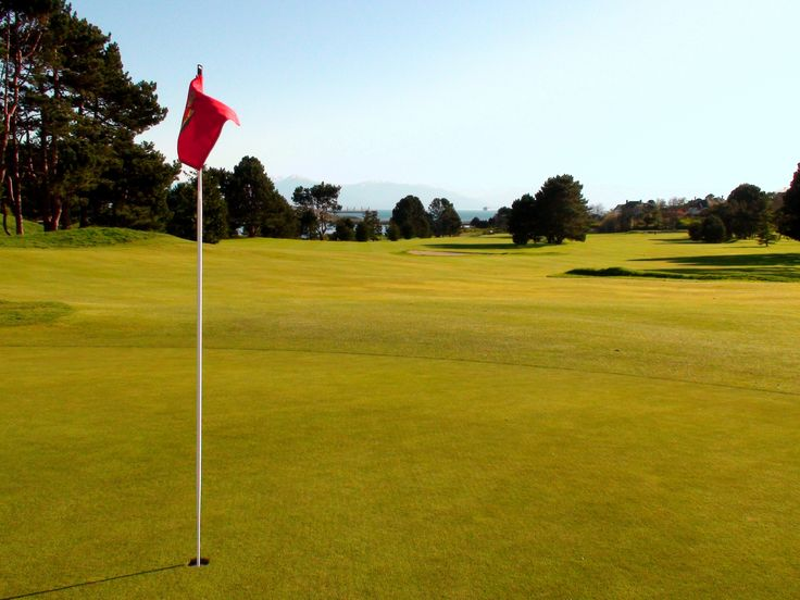 """© VGC   Hole 12   Tipperary   From the 1914 March sung by Allied and German soldiers: """"It's a Long Way to Tipperary"""", this is the longest hole on the course - an uphill par five where an elevated tee invites you to 'grip it and rip it'. More scenic vistas await from the three-tiered green where daily stimp-meter readings are taken. #golf #golfcourse #westcoast #yyj #victoriagolfclub"""