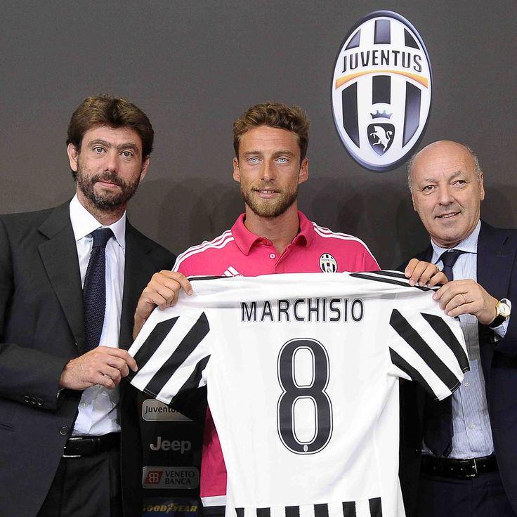 Andrea #Agnelli, Claudio #Marchisio e Beppe #Marotta in occasione del rinnovo del contratto del principino