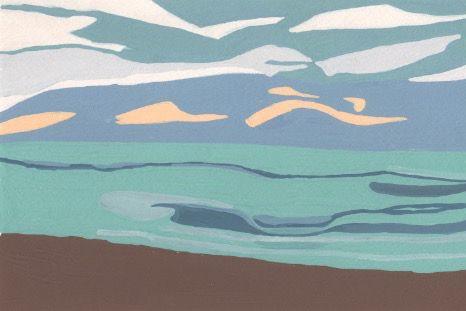 千葉の海です。 蓑島恵美