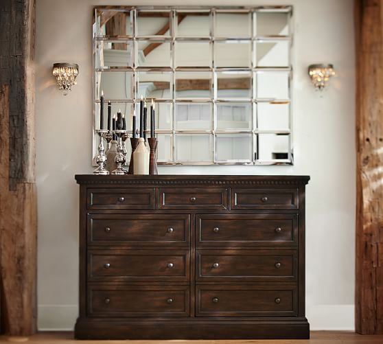 Banks Buffet and Eagan Multipanel Mirror | Pottery Barn
