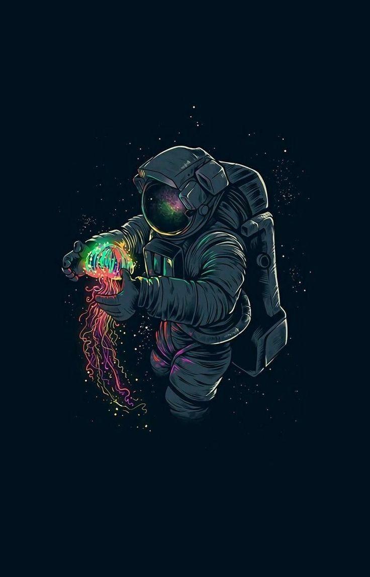 Astronaut neon