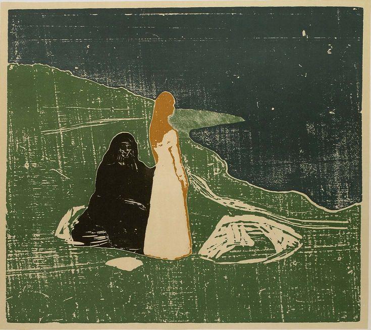 Edvard Munch, Femme sur la plage, 1898. Munch fut un précurseur du collage. Il jouait des assemblages permettant de superposer des figures et des couleurs