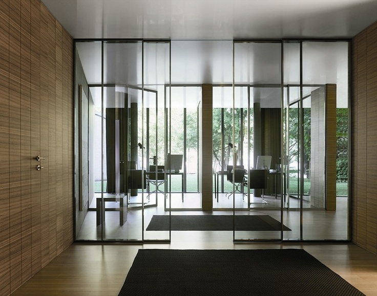 "glass door | ""pavilion"" | by antonio citterio | for tre p & tre piuin der Art auch bei Okifree Raumsysteme"