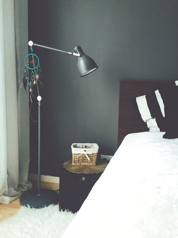 bedroom, dreamcatcher, IKEA bed and lamp, DIY