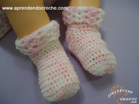 Meia para Bebê em Croche Soft - Aprendendo Crochê - YouTube