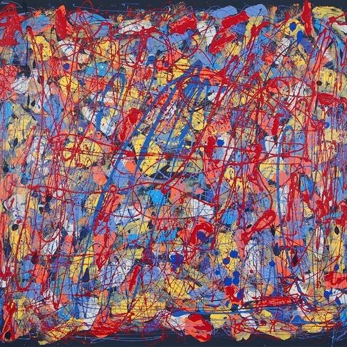 Catalyst: No. 19 Acrylic and Enamel on Canvas 2m x 1.8m