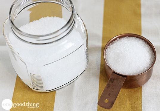 Fabric softener crystals.  Mix 1 cup of Epsom salt and 10 drops of essential oil to make DIY fabric softener crystals. Use 1/4 cup per load ...