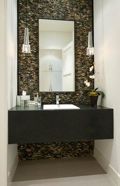 Powder Room - love this wall