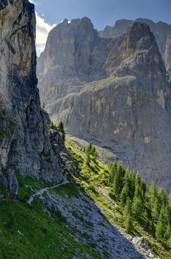 hiking in Val Gardena, Dolomiti