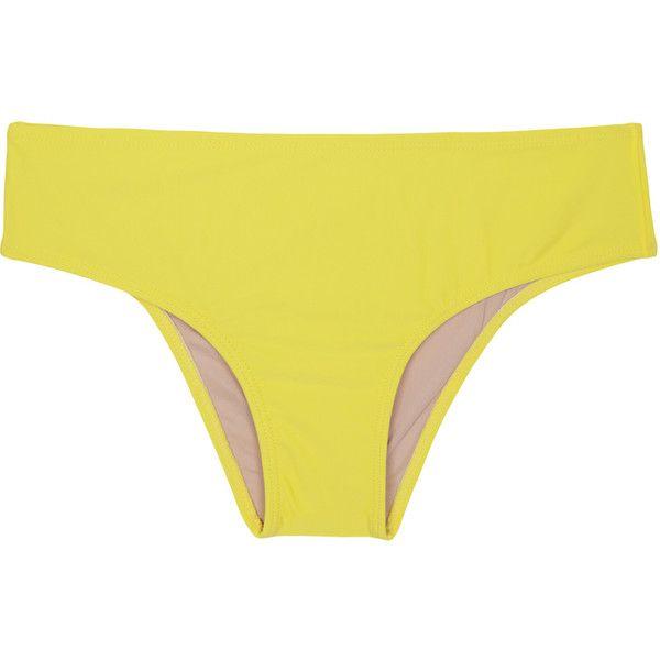 La Playa Plus Size Yellow Bikini Bottom - Calcinha Plus Strega ($31) ❤ liked on Polyvore featuring swimwear, bikinis, bikini bottoms, yellow, swim bikini bottoms, plus size two piece, spandex swimwear, plus size bikini bottoms and bottom bikini