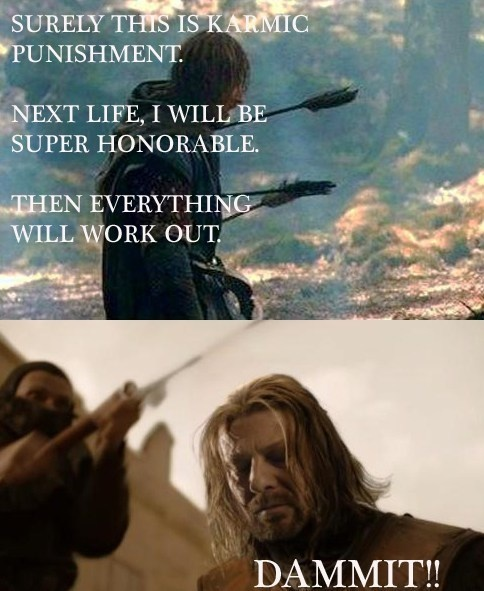 Love this show! When Ned died I almost quit watching. When Boromir died I was probably already asleep.