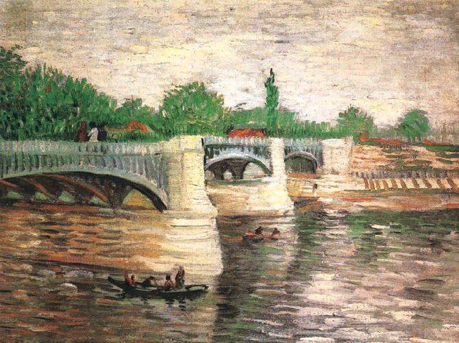 Vincent Van Gogh The Seine with the Pont de la Grande Jatte, 1887 - Description De La Chambre De Van Gogh