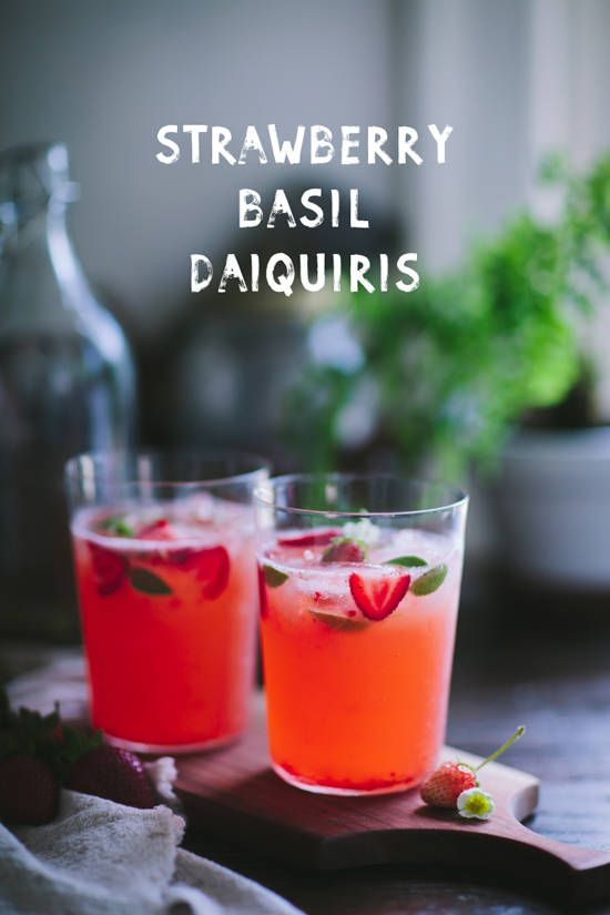 strawberry basil daiquiris | designlovefest