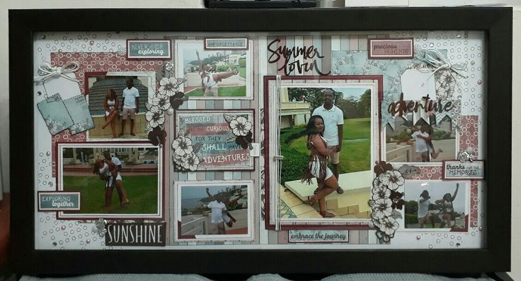 Shain's kit with pics and frame. Celebr8 Summer Adventure paper used