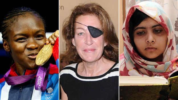 Here are three women who made headlines in 2012: Reporter Marie Colvin, activist Malala Yousafzai, and boxer Nicola Adams.
