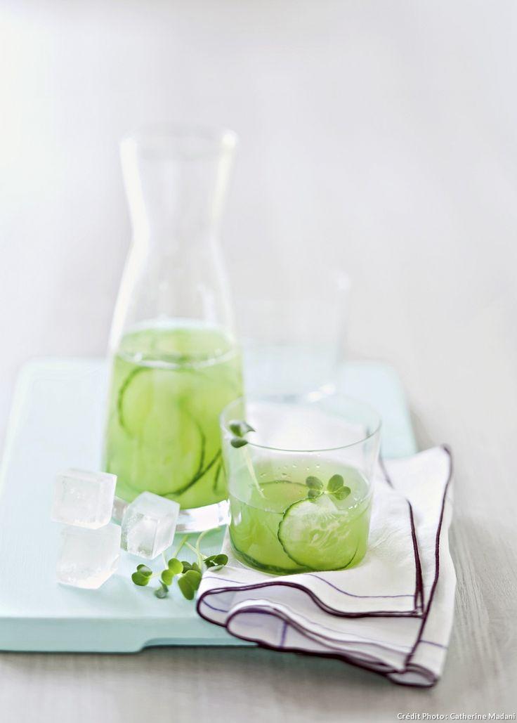 Recette d'eau de concombre.