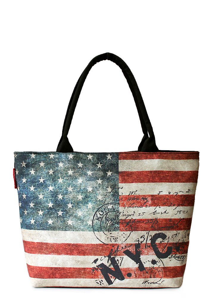 Сумка с американским флагом от бренда POOLPARTY