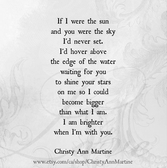 If I Were the Sun love poem available as a typed poem on ...