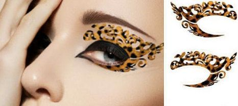 Temporary Costume Eye Tattoos - These Halloween Tattoos Create Dramatic Cat Eye Makeup Looks (GALLERY)