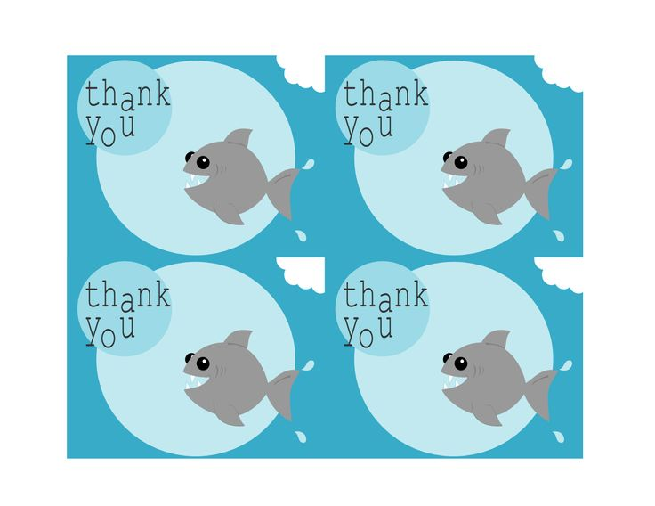 Tricia Rennea Illustrator Free Printable Shark Thank You