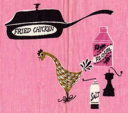"Pat Prichard dish-towel ""Fried Chicken"""