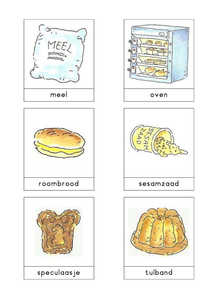 Woordkaarten Bas 'De bakkerij' 3