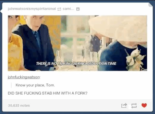 "Tumblr Reacts To ""Sherlock's"" ""The Sign Of Three"""