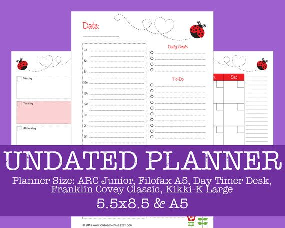 Undated Planner Bundle  Daily and Weekly Planner  by OnTaskOnTime