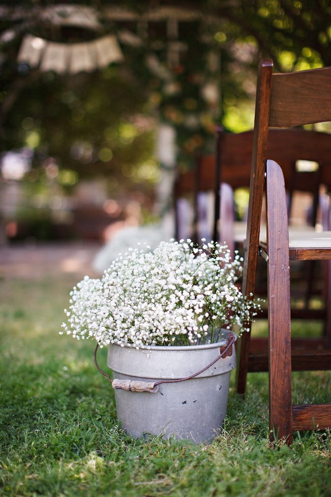 Backyard Wedding Ideas - Baby's Breath Wedding Decor