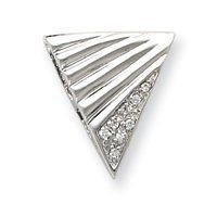 Sterling Silver CZ Slide Pendant - JewelryWeb JewelryWeb. $40.30. Save 50%!