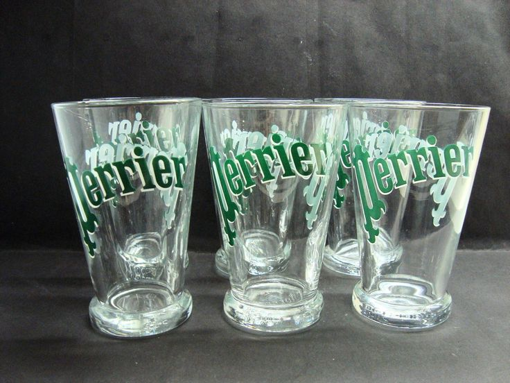 6 Vintage Style French Perrier Glass Tumblers | eBay