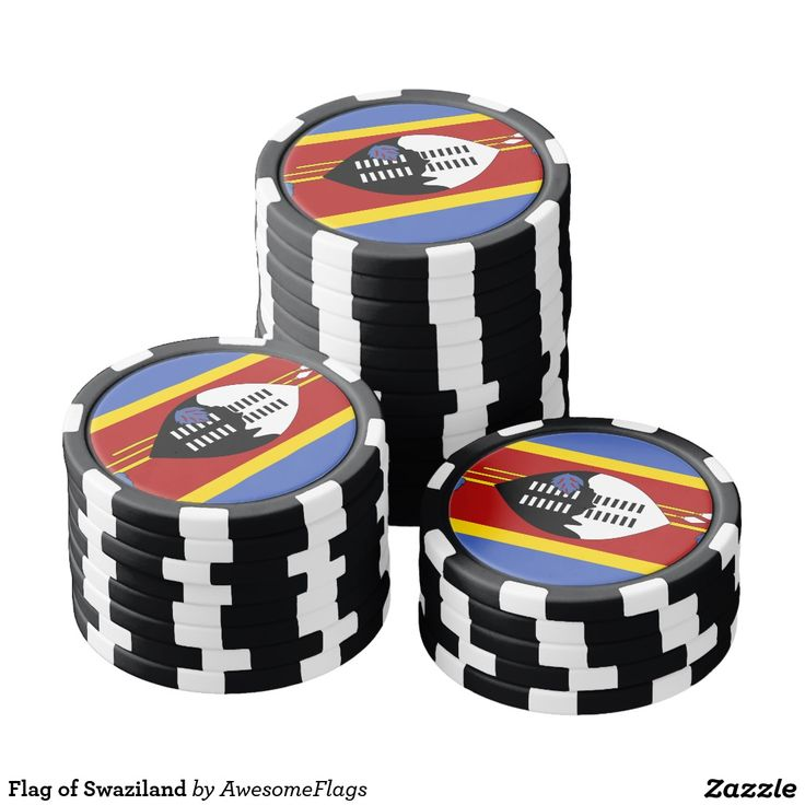 Flag of Swaziland Poker Chip Set