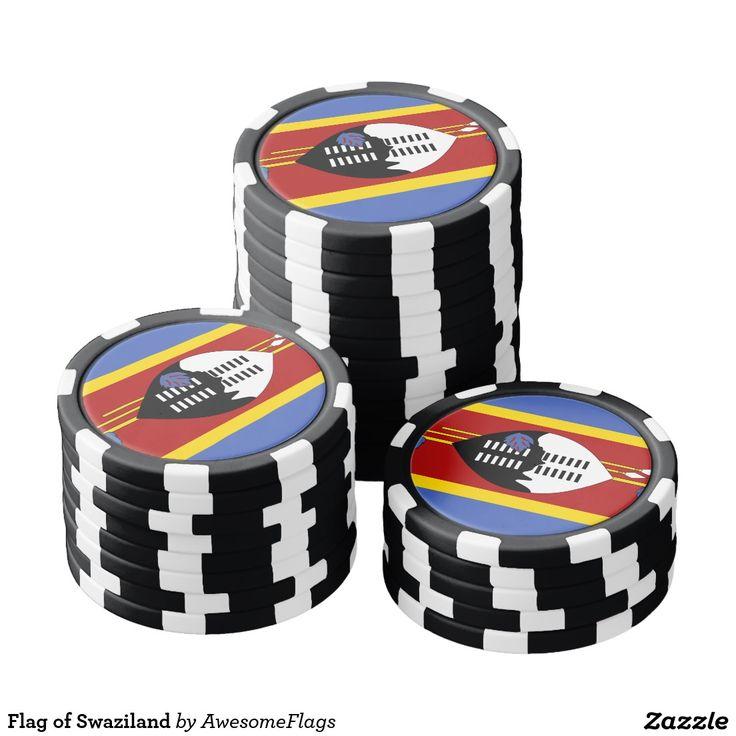 Flag of Swaziland Poker Chip Set