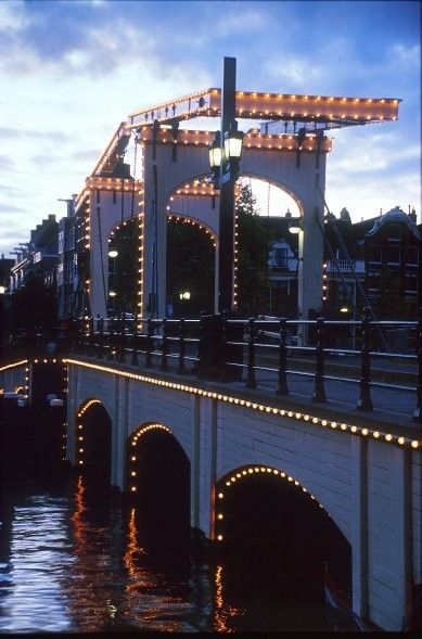 Magere Brug (Skinny Bridge) #amsterdam #mustsee #accorcityguide The nearest Accor hotel : Ibis Hotel Amsterdam City Stopera