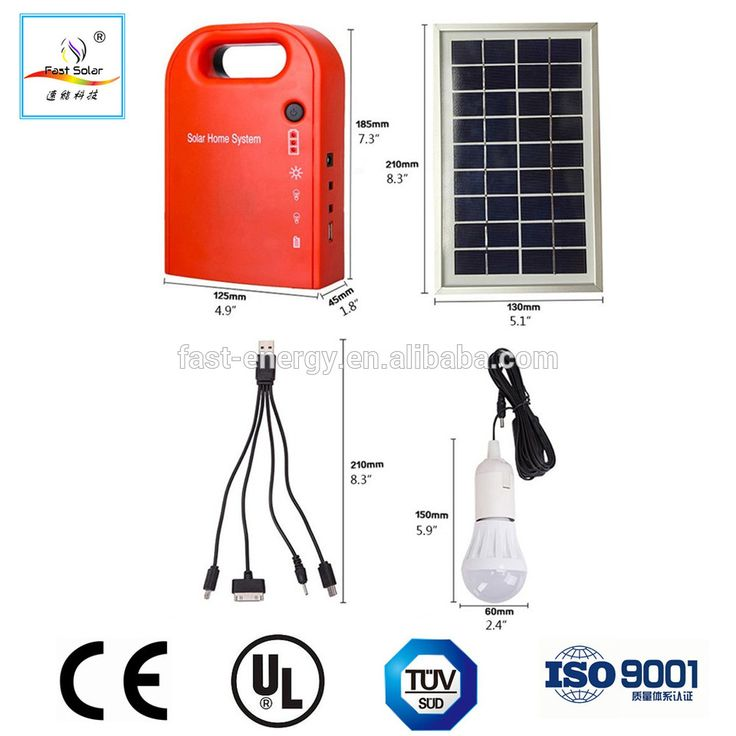 3W 5W 10W Indoor Mini Solar Light Kits Solar Lighting System with Mobile Charging for camping