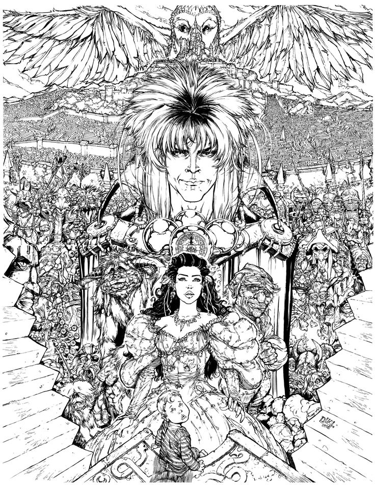 364 best the labyrinth images on pinterest for Labyrinth coloring pages