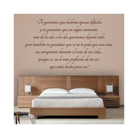 Vinilos decorativos de texto con frase personalizada para - Pegatinas pared frases ...