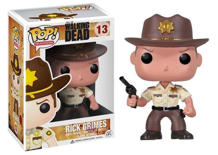 "Funko Pop Tv Walking Dead Rick Grimes Vinyl Action Figure Collectible Toy, 3.75"""
