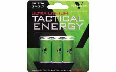 Viridian Cr123a Lith Battery 3pk