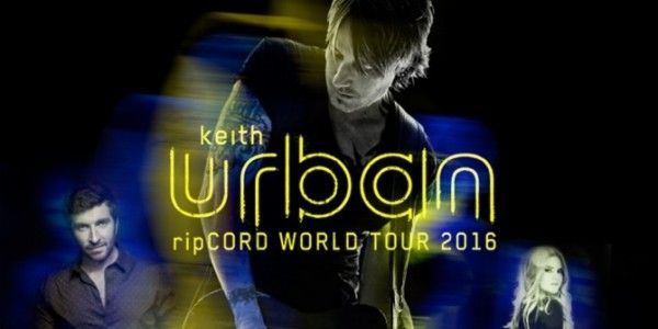 "Keith Urban Announces Additional Dates To ""ripCord World Tour 2016"""