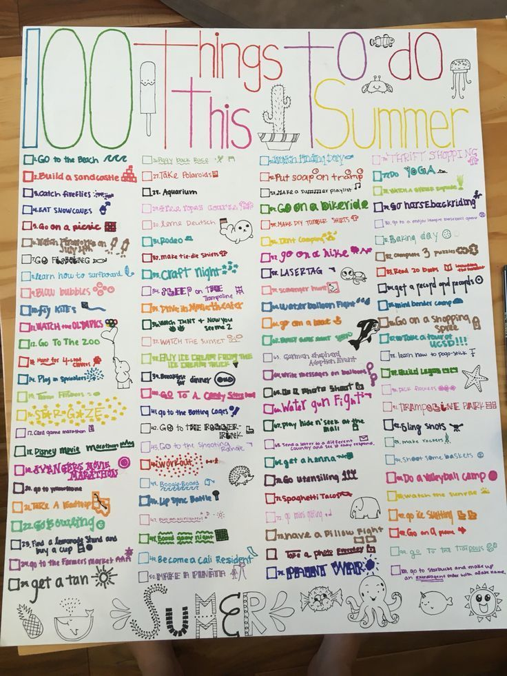 100 things to do this summer !! #this # things #summer #summervi