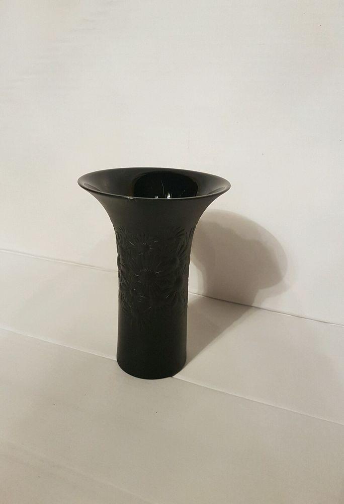 Wunderschöne Rosenthal Blumenvase Antik Studio Line - Porzellan Vase schwarz
